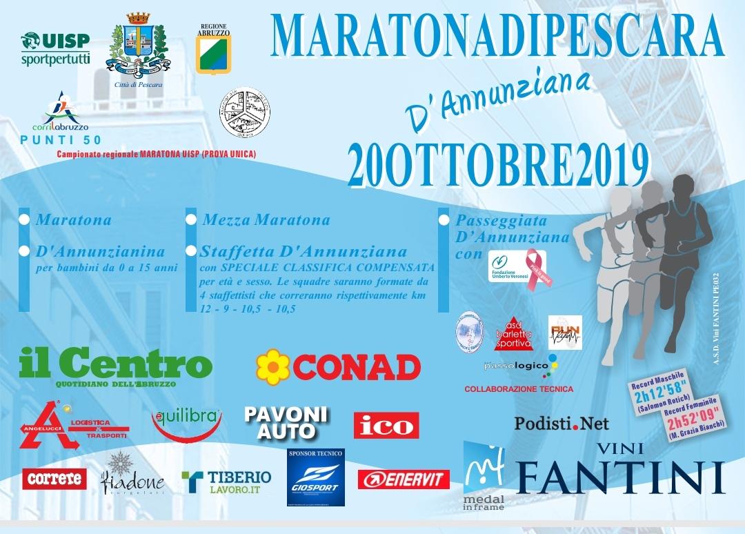 Volantino Maratona Pescara 2018