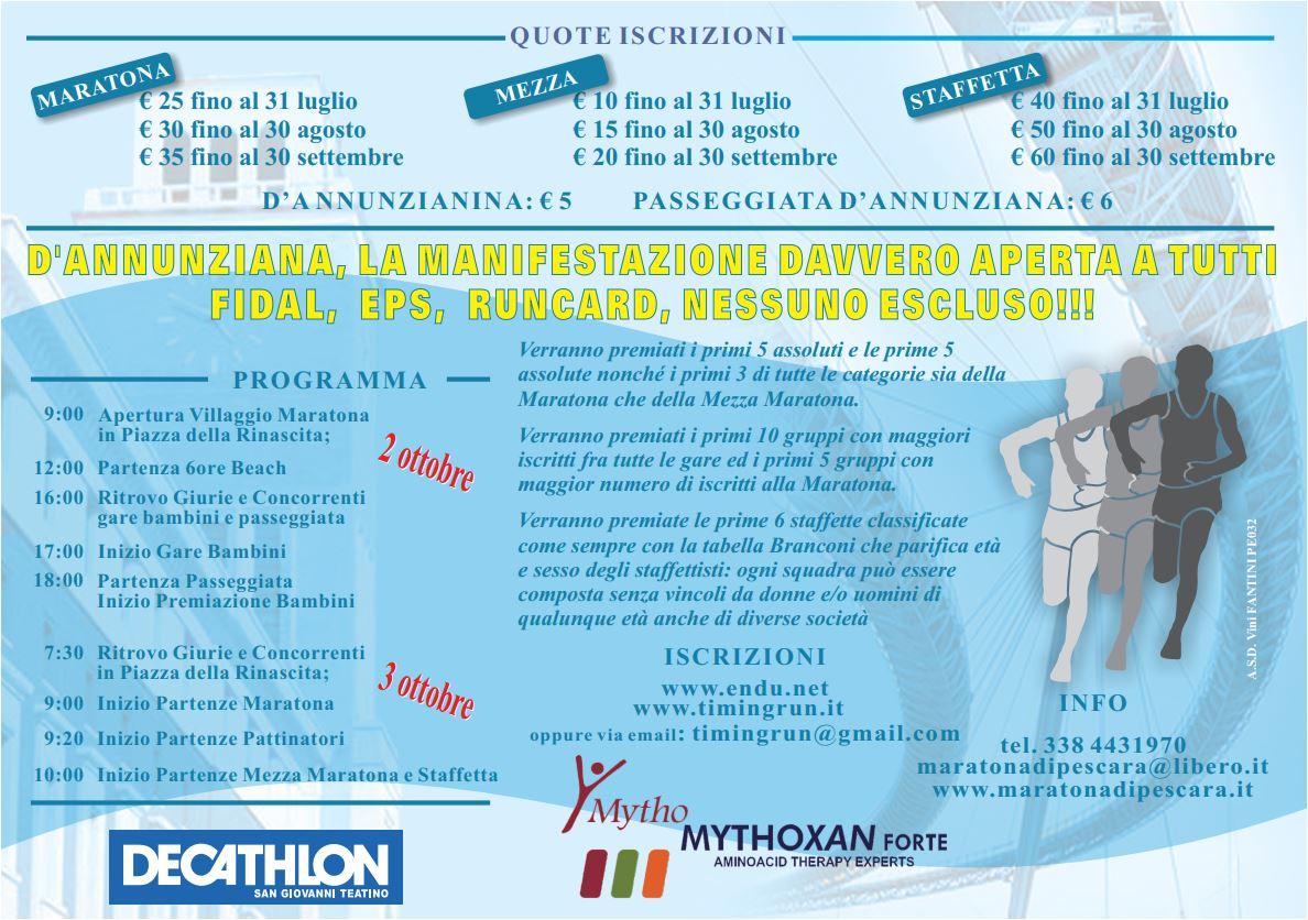 Volantino Maratona Pescara 2021 retro